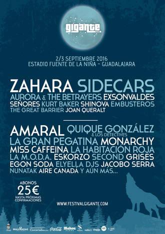 Zahara o Sidecars también estarán en el Festival Gigante de Guadalajara