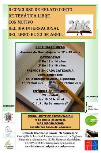 Últimos días para presentarse al concurso de relatos cortos de temática libre convocado por el CIJ 'La Salamandra'