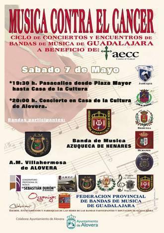 Alovera acogerá el sábado un concierto en beneficio de la AECC