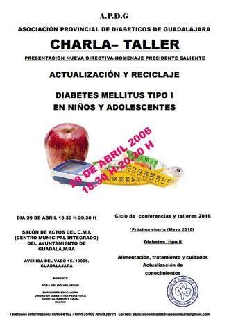 La Asociación de Diabéticos de Guadalajara se reunirá en torno a una charla-taller