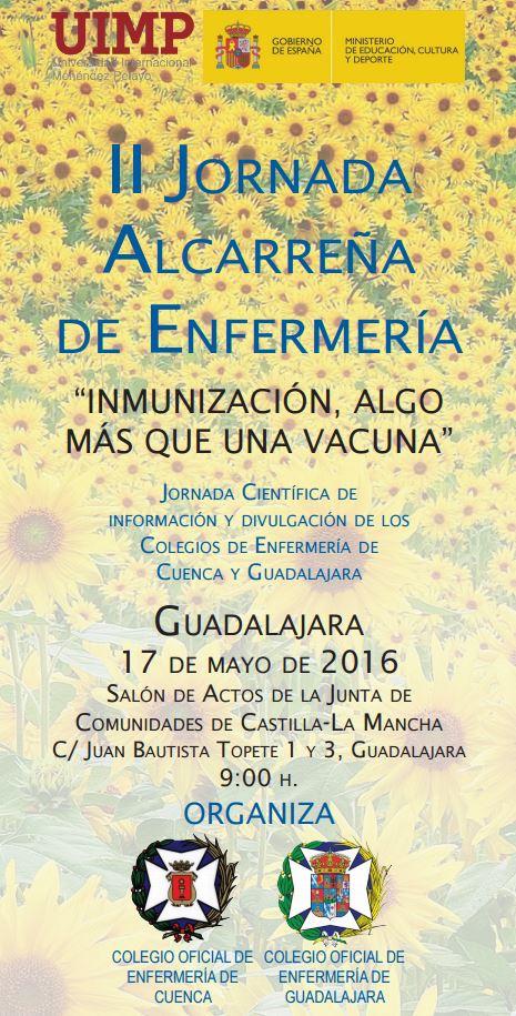 Guadalajara acoge la II Jornada Alcarreña de Enfermería el próximo 17 de mayo