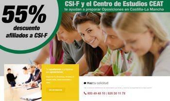 CSIF quiere ayudar a sus afiliados que vayan a opositar para el Sescam