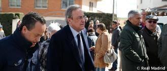 El Real Madrid dio su último adiós a Pedro de Felipe en Horche