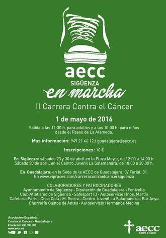 La AECC organiza la II Marcha contra el Cáncer en Sigüenza