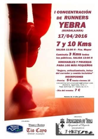 Yebra celebra este domingo su I Concentración de Runners