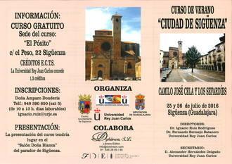 Curso de Verano en Sigüenza sobre 'Camilo José Cela y los sefardíes' con participación de destacadas personalidades