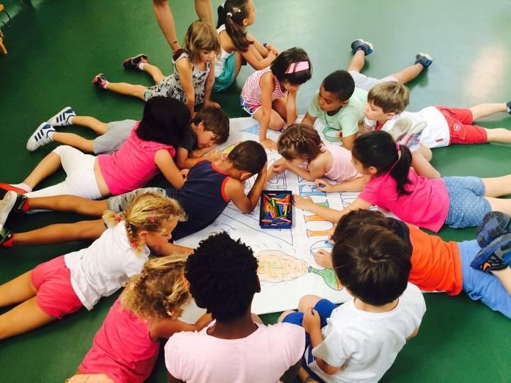40 niños en la primera semana del Campamento Urbano de Verano de Cabanillas
