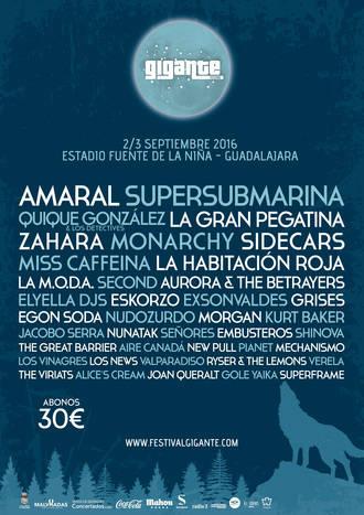 Festival Gigante completa su cartel para la edición 2016