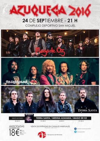 A la venta las entradas para el concierto de Mago de Öz, Medina Azahara y Tierra Santa en Azuqueca