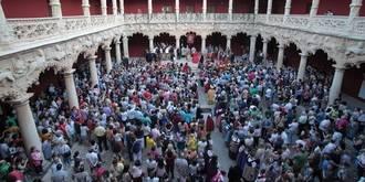 Magnífico ambiente en el corazón de Guadalajara para apoyar la candidatura del Palacio del Infantado a Patrimonio Mundial