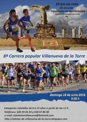 El domingo, 19 de junio, 8ª Carrera Popular de Villanueva de la Torre