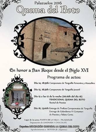 Palazuelos celebra San Roque con su tradicional Quema del Boto