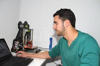 Cristian Martínez en 3D, 'Impresiónate' en el Vivero de Empresas de Almonacid de Zorita