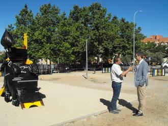 El Ayuntamiento de Guadalajara recupera un nuevo resto urbano y lo convierte en una zona de juegos infantil