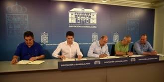 La Diputación se vuelca con los principales clubes de fútbol de Guadalajara