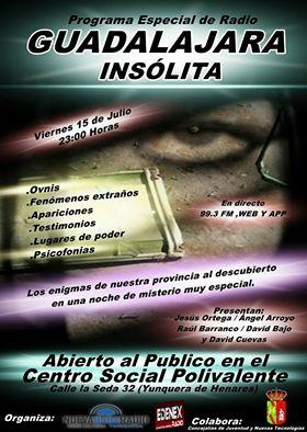 Noche de OVNIs, psicofonías y fenómenos anómalos en Guadalajara