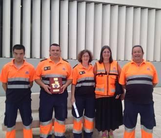 La agrupación de voluntarios de Sacedón, premiada por su labor en la Gala de Protección Civil de Castilla-La Mancha