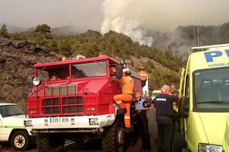 El agente medioambiental fallecido en La Palma quedó rodeado por el fuego por un giro del viento