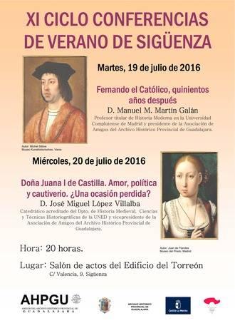 XI Ciclo de Conferencias de Verano de la Asociación de Amigos del Archivo Histórico Provincial de Guadalajara en Sigüenza