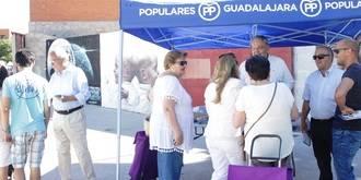 """De las Heras: """"Pedimos el voto de moderados que no quieren que se rompa España, como quieren los extremistas que hoy vienen a Guadalajara"""""""