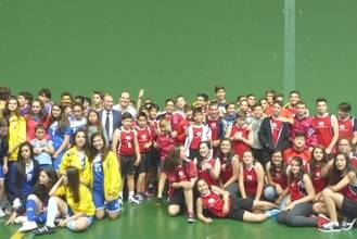 El Polideportivo San José de la Diputación acoge la entrega de premios del Campeonato de Deporte en Edad Escolar