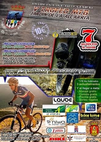 El domingo 7, V Trofeo MTB Jardín de la Alcarria en Brihuega, novena prueba del Circuito Diputación