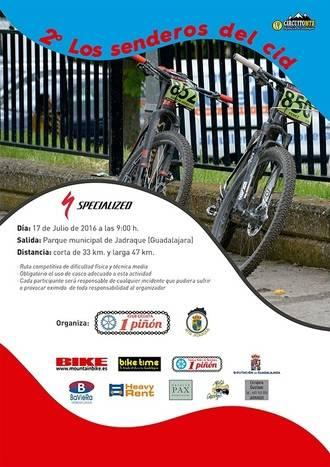 El domingo 17, II Ruta MTB Senderos del Cid en Jadraque, octava prueba del Circuito MTB Diputación de Guadalajara