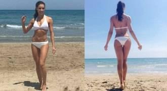 Pilar Rubio presume de cuerpo en bikini en la playa