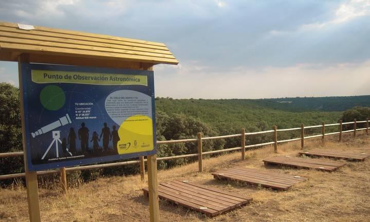 Yebes instala un Punto de Observación en el bosque de Valdenazar para los aficionados a la astronomía