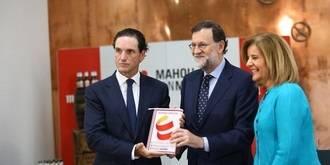 """Rajoy destaca que Mahou-San Miguel """"ha cumplido con una función social que el Gobierno agradece"""""""