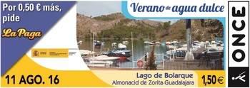 El Lago de Bolarque recorrer� toda Espa�a gracias al cup�n de la ONCE