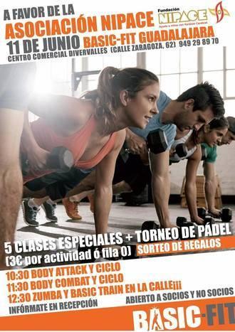 Fundación Nipace y Basic-Fit organizan unas jornadas deportivas solidarias