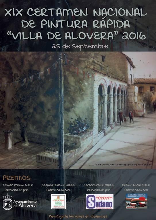 Alovera convoca el XIX Certamen Nacional de Pintura Rápida al aire libre 'Villa de Alovera' que se celebrará el 25 de septiembre