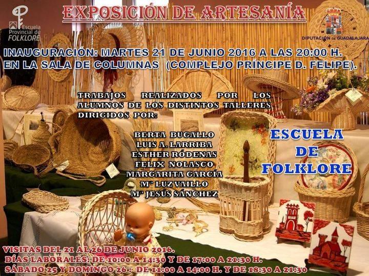 El 21 de junio se inaugura la Exposición de trabajos de artesanía de la Escuela de Folklore de Diputación