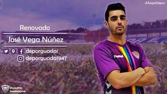 José Vega seguirá defendiendo la camiseta del C.D. Guadalajara