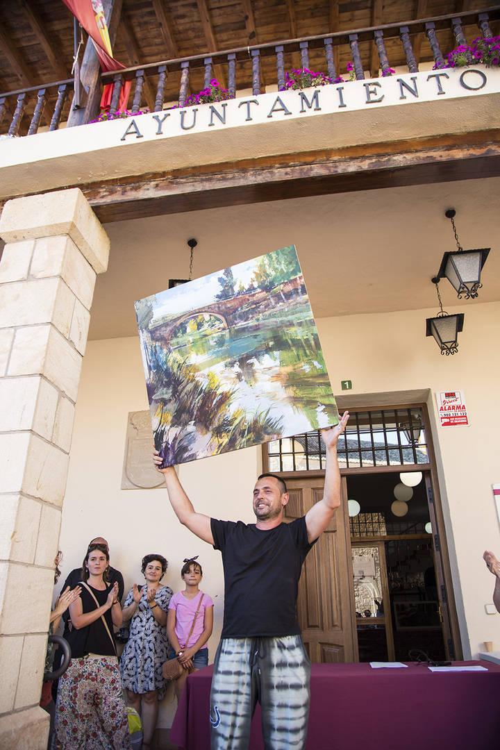 'Reflejos en el río Tajo', del albaceteño Eduardo Monteagudo, primer premio del Concurso de Pintura Rápida de Trillo