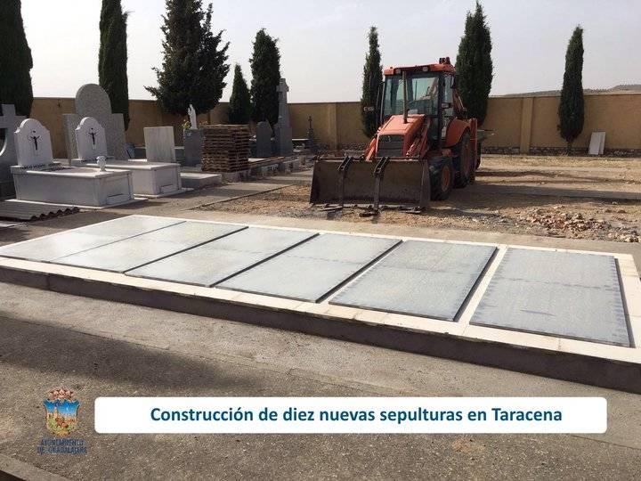 El cementerio de Taracena ya tiene diez nuevas sepulturas