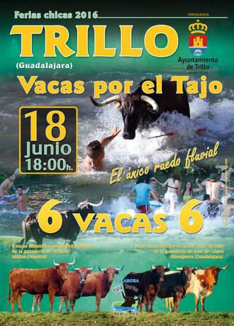 Trillo celebra este sábado una nueva edición de sus populares 'Vacas por el Tajo'