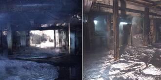 Una fuga de vidrio fundido provoca un incendio en una fábrica de Azuqueca