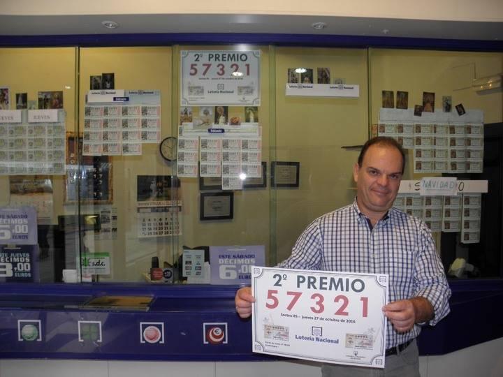 Más suerte vendida en Guadalajara: Un segundo premio de la Lotería Nacional del jueves
