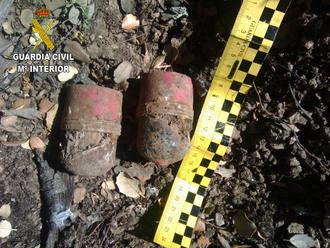 La Guardia Civil desactiva dos granadas de la Guerra Civil en el término municipal de Trijueque