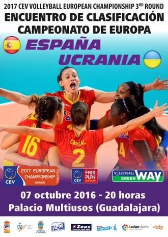 La Selección Española Femenina de Voleibol se la juega en Guadalajara contra Ucrania