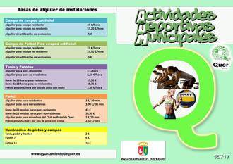 El 3 de octubre comienza la temporada de las Escuelas Deportivas Municipales de Quer