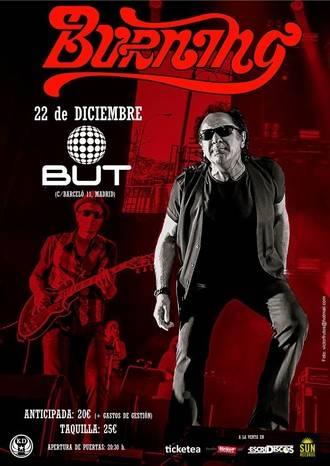 El próximo 22 de diciembre el veterano grupo BURNING despedirá en Madrid su gira