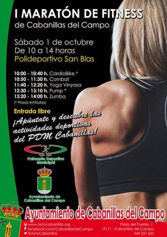 Ayuntamiento y Patronato de Deportes organizan el I Maratón de Fitness de Cabanillas del Campo
