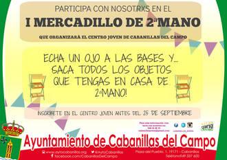 El Ayuntamiento organiza el I Mercadillo de Segunda Mano de Cabanillas, el próximo 2 de octubre