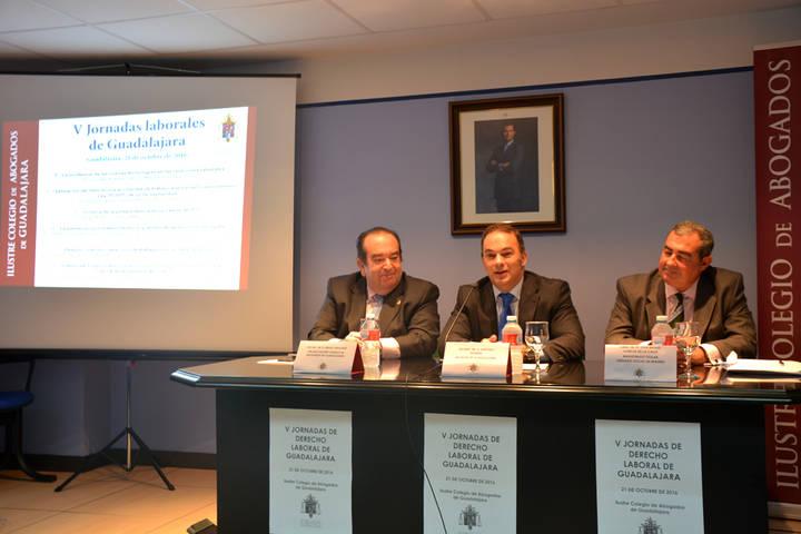 Gran éxito de público y asistencia a las V Jornadas Laborales organizadas por el Colegio de Abogados de Guadalajara