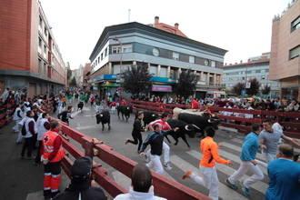 Seis heridos en el cuarto encierro de las Ferias y Fiestas de Guadalajara, dos de ellos, trasladados al Hospital General