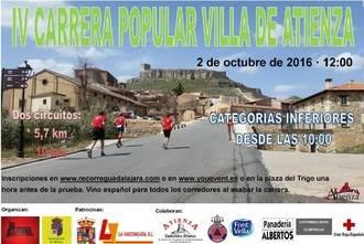 El 2 de octubre se celebrará la IV Carrera Popular de Villa de Atienza, novena prueba del Circuito Diputación