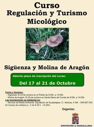 Abierto el plazo de inscripción para el curso sobre turismo micológico en Sigüenza y Molina